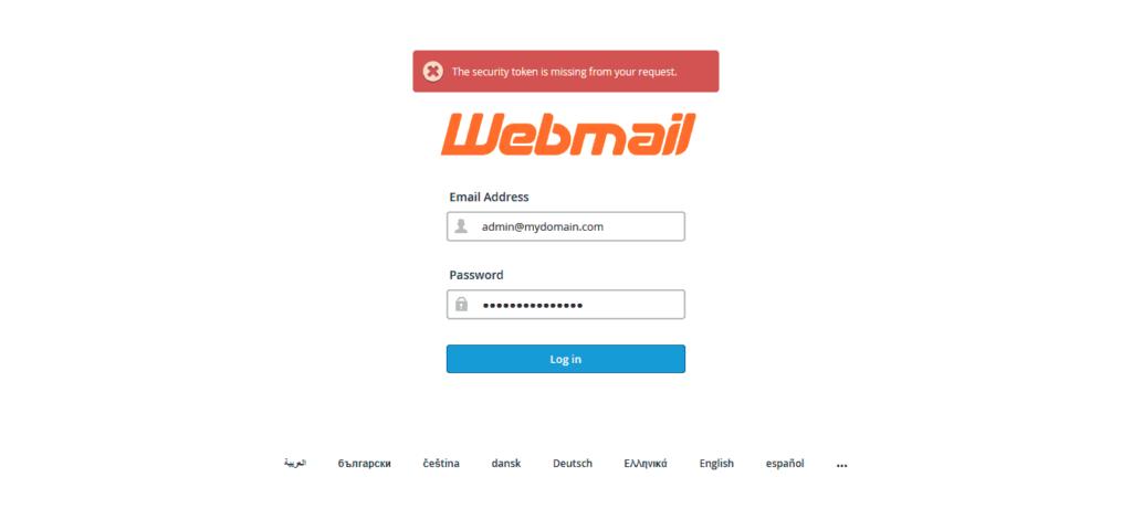 webmail login credentials 1